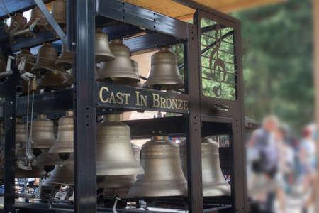 ルネッサンス フェスティバルでブロンズの音楽の鐘