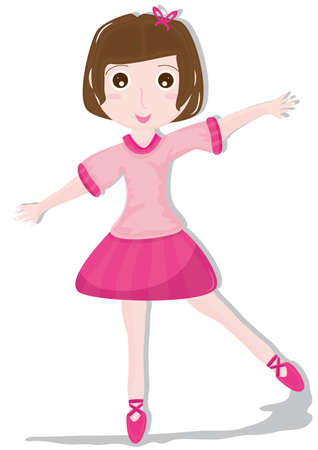 Ballet dancer, isolated white background   Vector