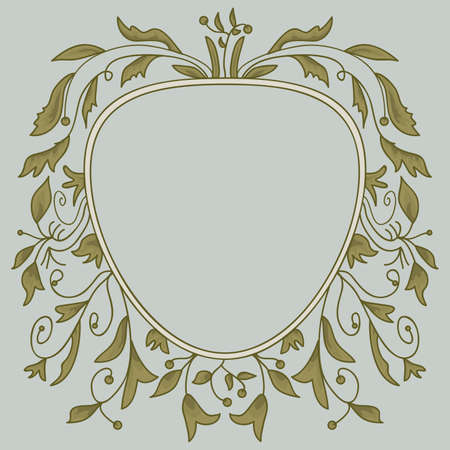 Vintage floral frame, isolated   Vector