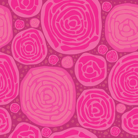 Abstract pink roses seamless pattern   Vector