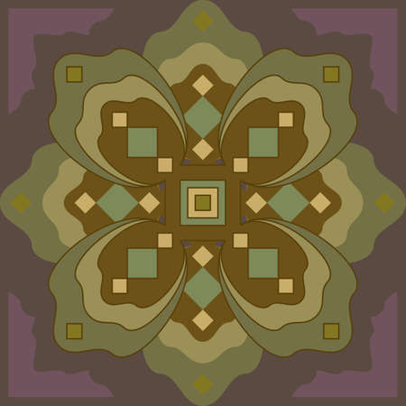 Russia style square pattern, isolated   Vector