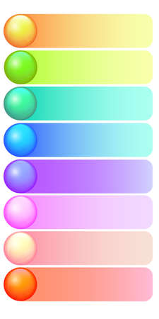 Vector diary column template for daily planner, organizer, reminder, to do list. Column with different color lines. Suitable for calendar or checklist. Vector Vektorgrafik