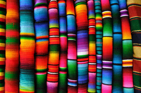 Blankets from Guatemala Stock Photo