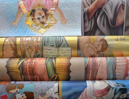 メキシコ、2014 年販売のため宗教的なポスター 報道画像