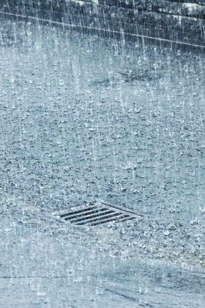 heavy raining