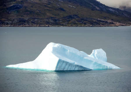 A moving ice floe in the Prince Christian Sund, Greenland