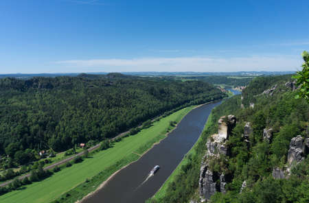 The river Elbe, Germany, panorama Stock Photo