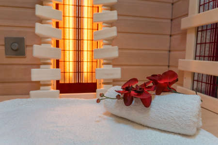 Private infrared sauna 版權商用圖片 - 99578165