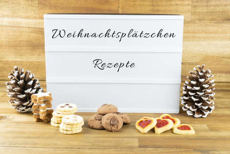 Light box with the words for christmas cookies recipes