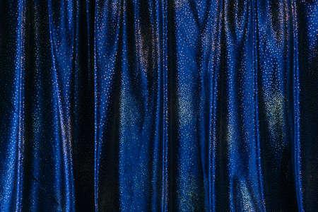 Blue glittering curtain