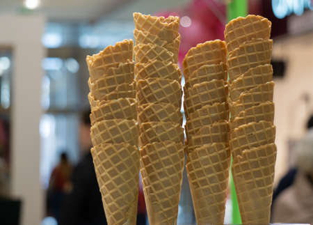 Many ice cream wafers Banque d'images