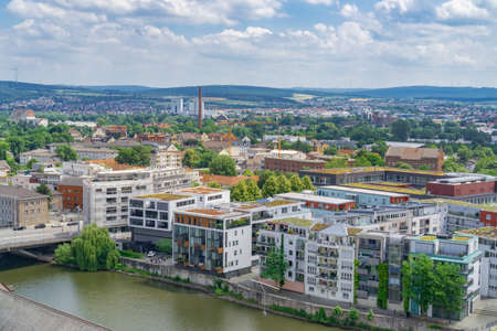 View of the city of Kassel in Germany from above