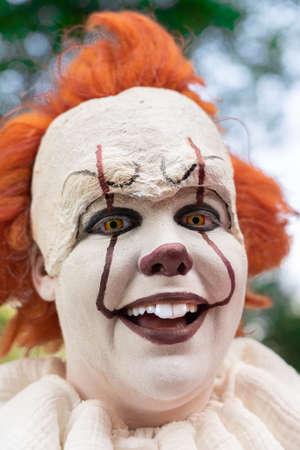 Smiling creepy horror clown Zdjęcie Seryjne