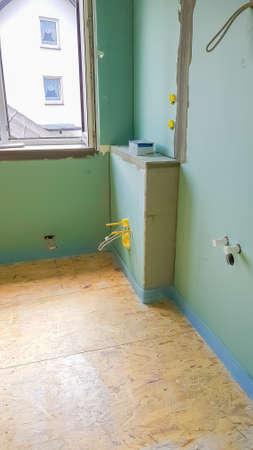 Construction of a new bathroom Zdjęcie Seryjne
