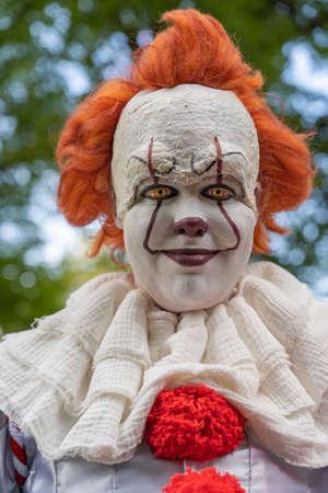 Smiling creepy horror clown Stock fotó
