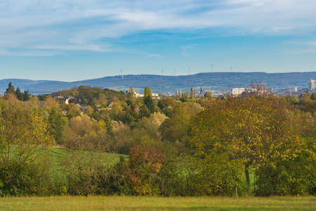 Beautiful landscape with a view of Kassel, a city in northern Hesse, Germany Stockfoto