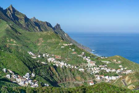 The beautiful Anaga Mountains near Tangana in Tenerife, Spain