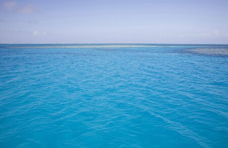 stunning turquoise ocean of great barrier reef marine park photo