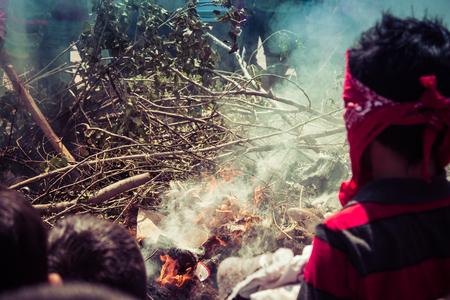 burning of masks