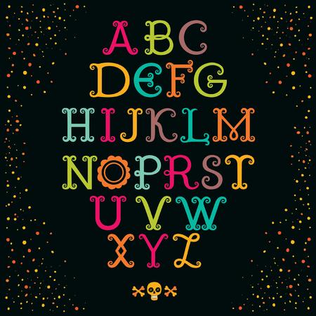 Vintage decorative handcrafted font named