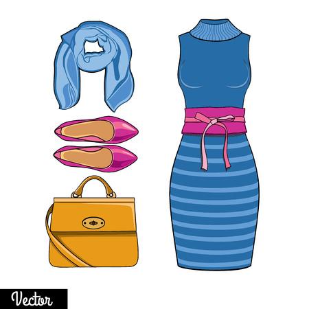 Illustration stylish and trendy modern clothing style.