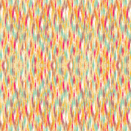 Seamless Ikat Pattern. Abstract background for textile design, wallpaper, surface textures, wrapping paper. Illustration