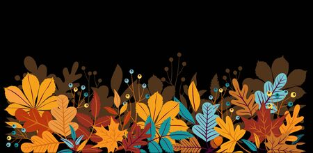 Autumn background with leaves. Can be used for poster, banner, flyer, invitation, website or greeting card. Vector illustration 版權商用圖片 - 132405292