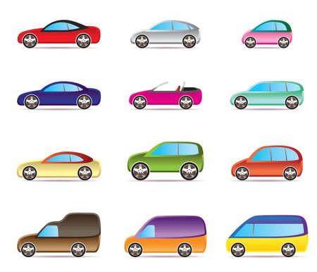 Popular types of cars - vector illustration Vector