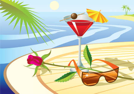 Beach cocktail - vector illustration Vector