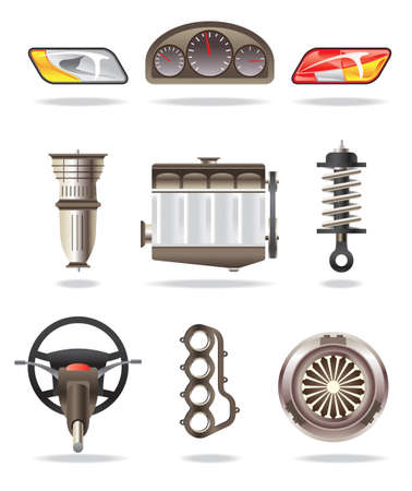 Car parts - vector illustration Stock Vector - 10456422