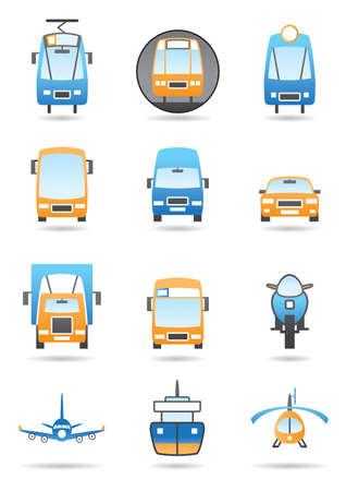 metro: Transportation vector icon set