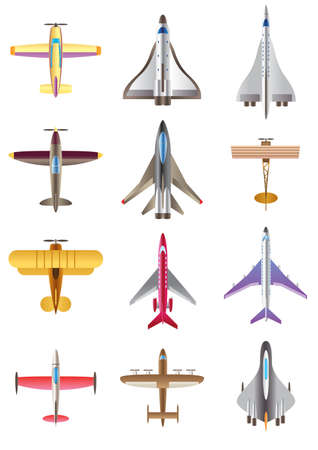 propellers:  Different airplanes - vector illustration Illustration