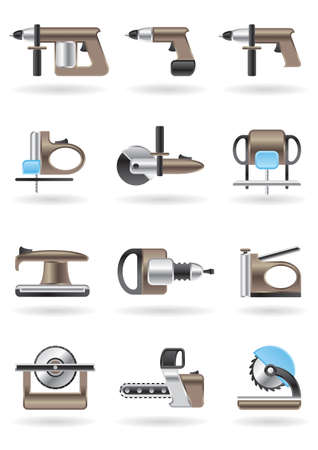 Building and furniture power tools illustration