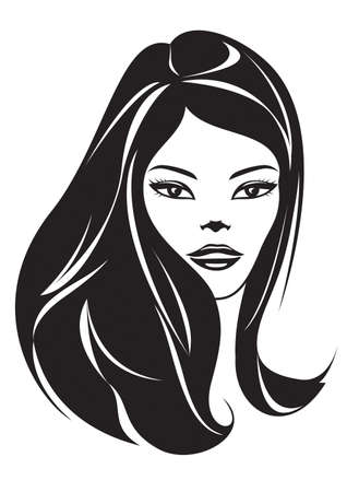 Fashion girl with a new hairstyle Vector