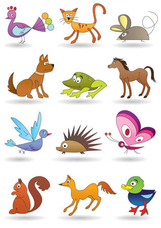Toys with animals for kids icons set Stock Vector - 12481109