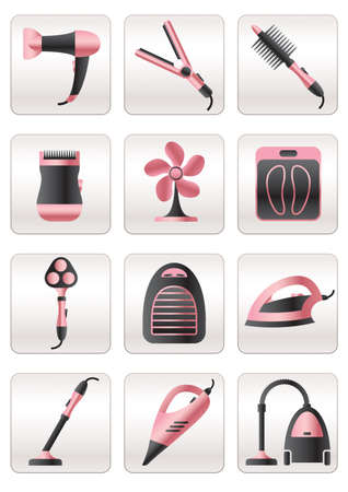Cosmetic, cleaning and heating appliances Vector