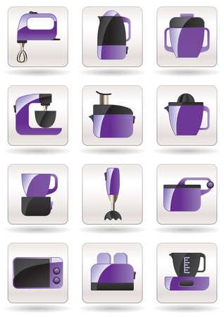 Household appliances for kitchen illustration Vector