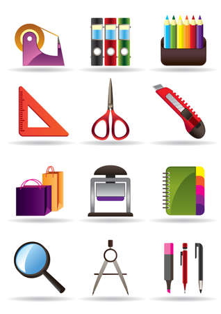 stationery set: School and education bookstore tools Illustration