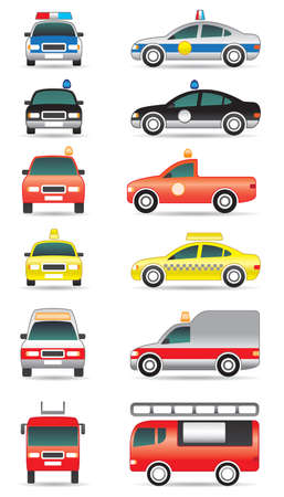 Special purpose cars illustration Vector