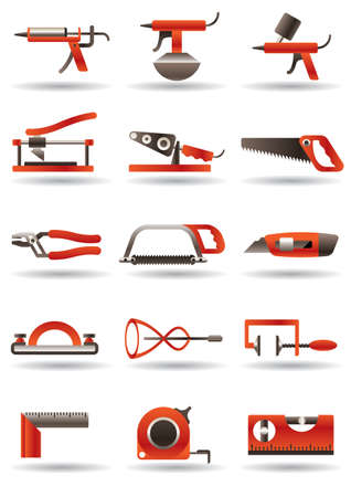 Construction and building manual tools Stock Vector - 12480461