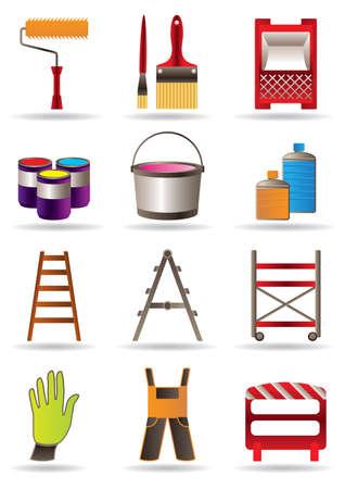 Painting and construction tools illustration  イラスト・ベクター素材