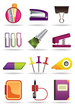 Office, school and education bookstore tools Vector