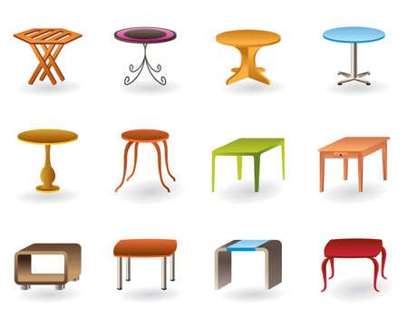 leather chair: Office, interni e giardino tavoli illustrazione