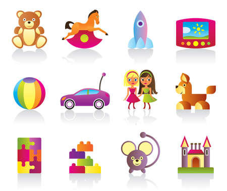 Various children s toys illustration Vector
