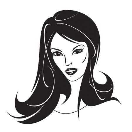 Modern girl with a new hairstyle illustration Vector