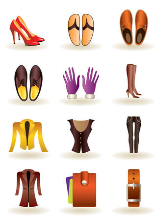 leather pants: Clothing and footwear of leather illustration Illustration