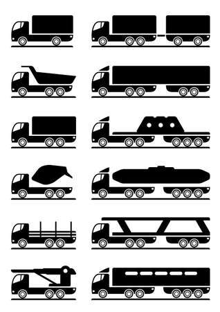 Different types of trucks  Stock Vector - 12997331