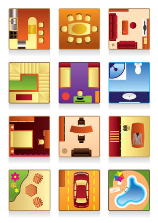 Furniture of the house - vector illustration Vector