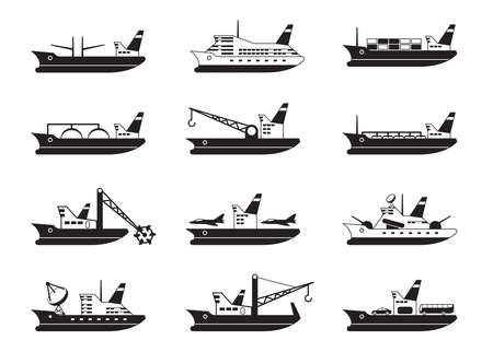 marine ship: Diverse commercial and passenger ships