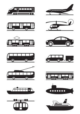 Passenger and public transportation Vector